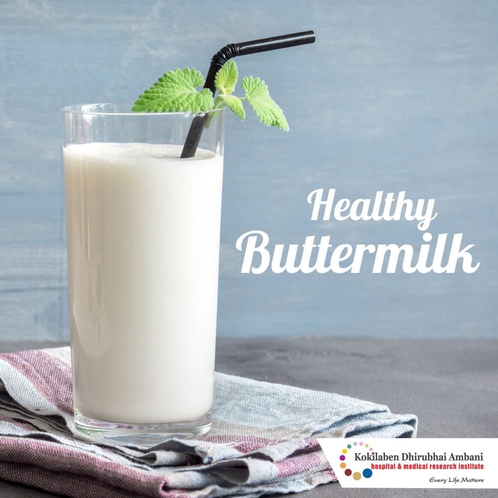 Enjoy a glass of buttermilk!